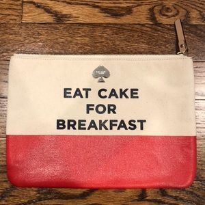 "Kate Spade ""Eat Cake for Breakfast"" Gia pouch"